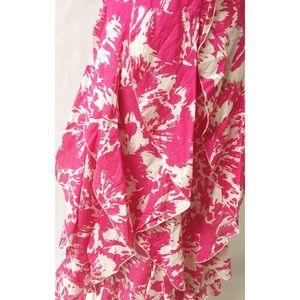 Dresses - Pink & White Ruffle Dress Size 6
